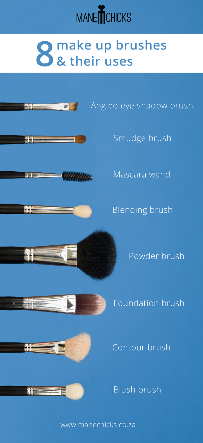 8 Makeup Brushes And Their Uses